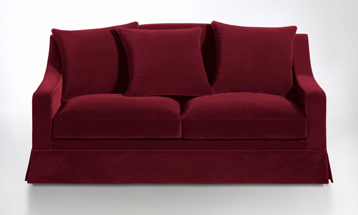canape velours rouge convertible redoute interieurs