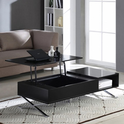 table basse noir plateau relevable vente unique