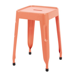 tabouret metal orange jim maisons du monde