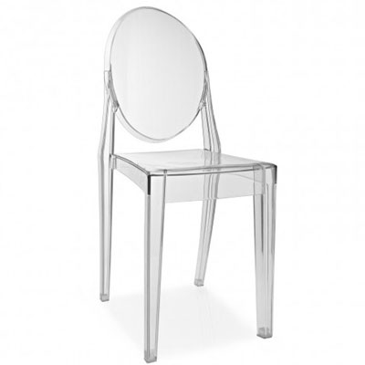 chaise ghost transparente