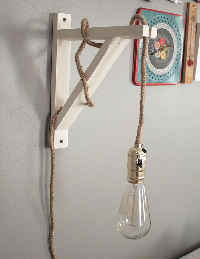 Ampoule Edison filament diy sur equerre The home steady