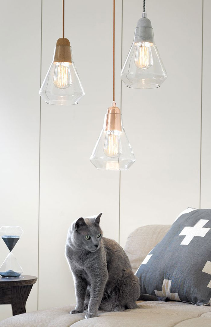 suspension ampoules abat jour verre tendance josh et jenna beacon lighting