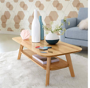 Table basse bouleau scandinave Redoute